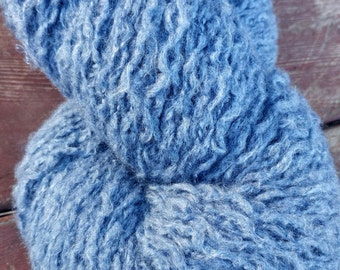 Reclaimed Alpaca/Acrylic Blend Yarn blue