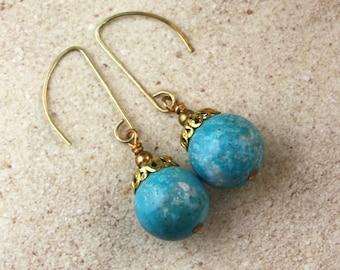 Ornament Earrings - Aqua