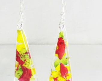 Tutti Fruitti  Earrings, Real Flower Earrings, Pressed Flowers (1935)