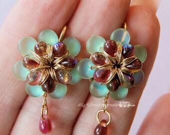 DIY Flower Earrings Tutorial, Wire Wrap Jewelry, Earring Instructions, Fanciful Flowers - Freesia Earrings - Instant Downloadable PDF File