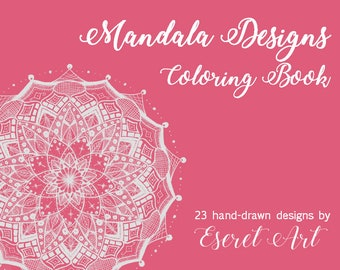 Mandala GREY OUTLINE Coloring Book, Coloring Pages, Drawing, Design, Digital Download, Instant File, PDF