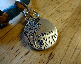 Hand-Stamped Pet ID Tag (Tree)