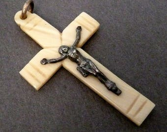 Vintage French Celluloid Crucifix