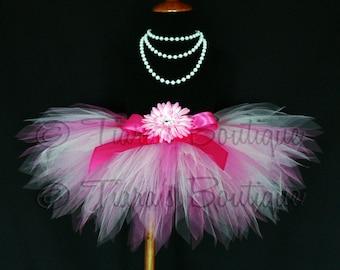 "Simply Pink - Pink Pixie Tutu - Custom Sewn 8"" Infant or Toddler Pixie Tutu - sizes Newborn to 12 month"