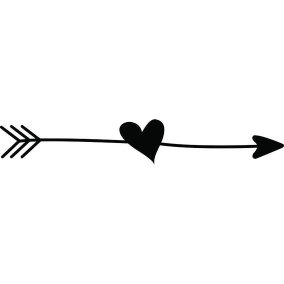 Line Art Arrow : Doodle ding arrow heart love line break cute quote design