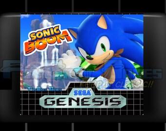 "SPECIAL ORDER! ""Sonic Boom"" Custom Homebrew Sega Genesis Sonic Hack Platformer!"