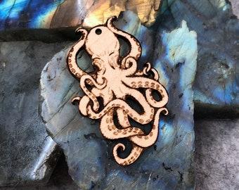 Octopus Wooden Pendant