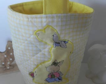 Cotton and appliqué Easter basket