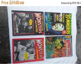 Spring Sale 4 Vintage Monster's Magazine from Large Collection