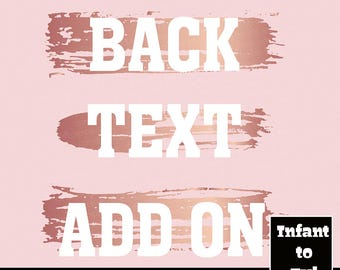 Back Text Add On