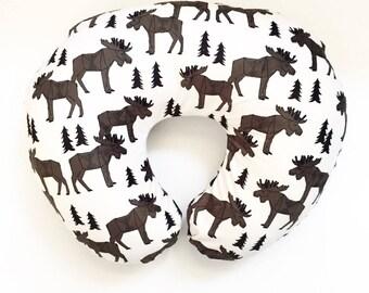 Nursing Pillow Cover Moose Forest. Nursing Pillow. Nursing Pillow Cover. Minky Nursing Pillow Cover. Moose Nursing Pillow Cover.