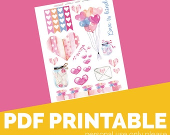 Love is Kind Printable, Digital Bible Journaling, Margin Stickers, Bookmarks, Sticker Printable