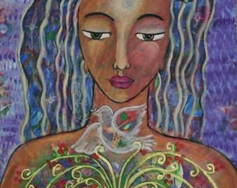 Divine Feminine Print-Flowering heart