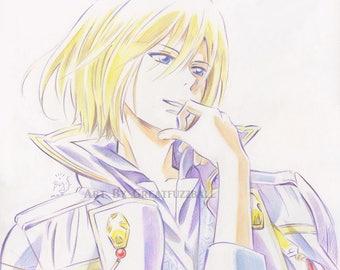 Izana Wistalia Clarines, Original Anime Print, Anime Drawing, Anime Gifts, Anime Portrait, Manga Art, Manga Print, Akagami no Shirayuki Hime