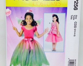 Uncut, Girls Size 2 3 4 5, McCalls Halloween Costume Sewing Pattern MP256, Formal Dress, Wedding, Flower Girl, Story Book Character, Fairy,