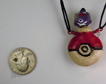 Pokemon Koffing Oil Diffuser Necklace  Hand Sculpted OoAK  (B)