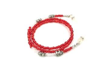 Free Shipping,Eye Glass Holder,red eye glass holder,beaded eye glass chain,elephant eye glass holder,ladies eye glass chain,sun glass holder