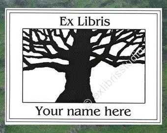 Ex Libris Ancient Tree 25 Personalized Booklabels Bookplates