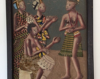 West African Bas Relief Painting