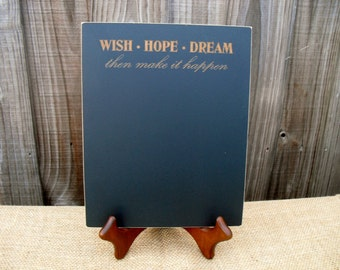 Home Decor Chalkboard - Wish Hope Dream  - Item E1498