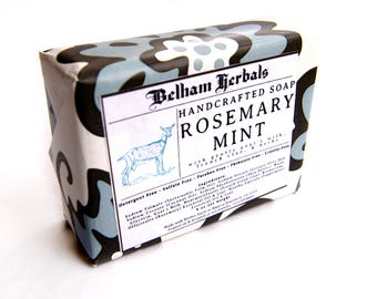 ROSEMARY MINT Soap | Goat's Milk Soap, homemade soap, soaps, artisan soap, guest soap, gift for her, gift for him, mens soap, wholesale soap