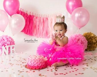 Hot Pink Tutu/ Fuchsia Tutu/ Pink Tutu/ Birthday Tutu/ Valentine's Day Tutu/ Cake Smash Tutu