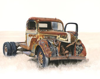 1947 Ford Farm Truck Giclee Print from Original Watercolor Painting