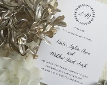 Wedding Programs     wedding programs     ceremony program     programs - Style 20 - BRANCHES COLLECTION