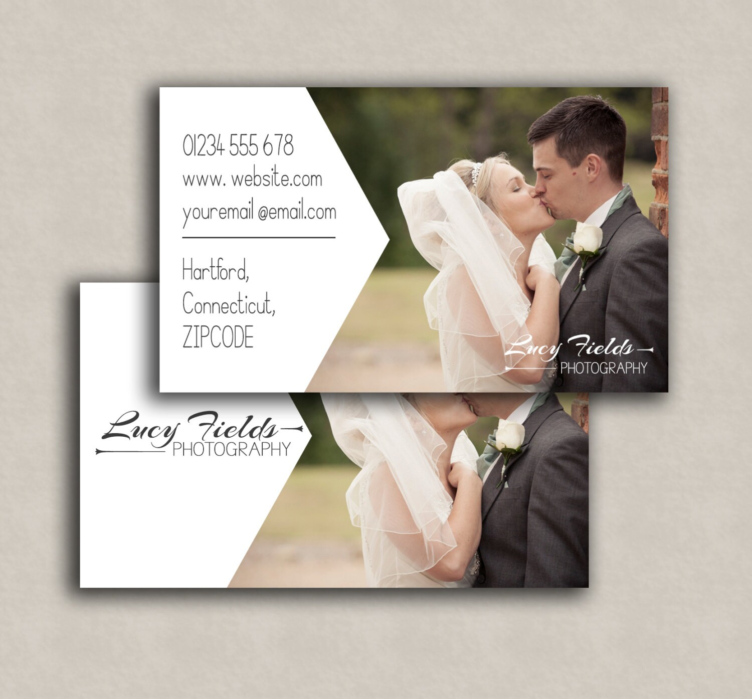 Business Card Template, photoshop marketing card - Double sided psd ...