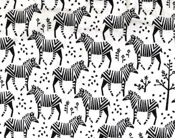 SALE - Fabric -Michael Miller zebra print cotton – 1.00m piece