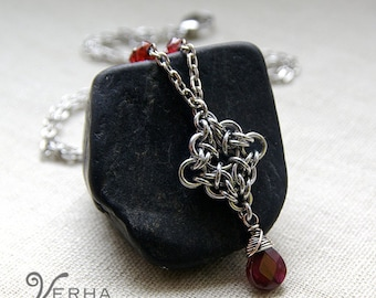 LAST TWO! The Vampire Diaries jewelry / Elena Necklace / Garnet necklace
