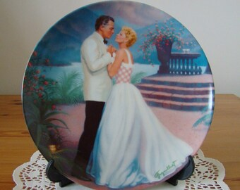 Knowles 1987 'South Pacific' ltd. edit. china plate/memorablia/Rossano Brazzi/Mitzi Gaynor/Rodgers/Hammerstein/movies/hollywood/collectible
