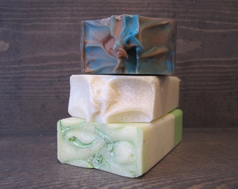 You Choose 3 Bars for 12.00 ~ Cold Process Soap