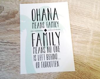 OHANA Postcard