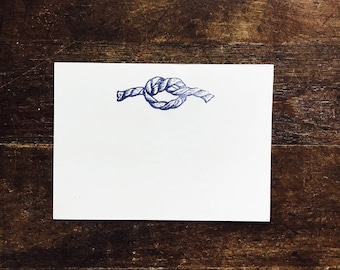 Hand Lettered Nautical Stationary, Magic, Navy Blue and White Foldable Card, Bon Voyage