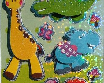 Stickers - ELEPHANT LION - 12 x 3D