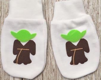 Star Wars Yoda Inspired Baby Scratch Mitts