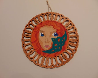 Brave Circle Wooden Sign