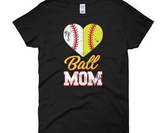 Ball Mom Softball Mom Baseball Mom Women's short sleeve t-shirt