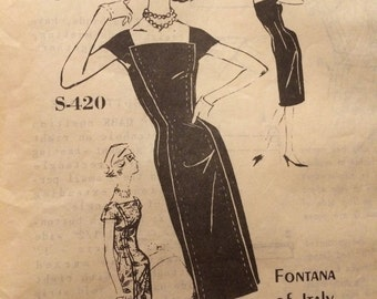 SALE Gorgeous Vintage Sheath Dress Pattern---Spadea S-420----Designed by Fontana of Italy