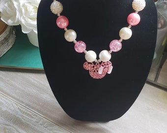 Pink Minnie Mouse Necklace