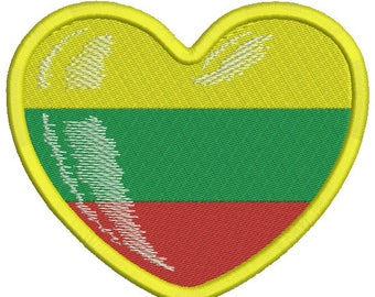 flag of Lithuania embroidery design - Machine Embroidery Design