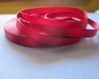 Burgundy satin ribbon 6mm