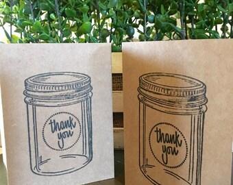 Mason Jar Thank You Card Set of 5