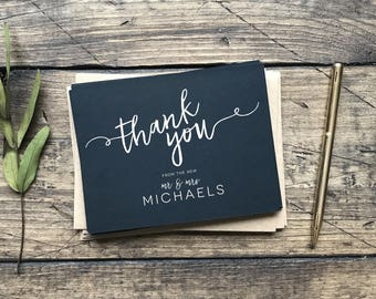 Thank You Cards. Personalized Thank You Cards. Wedding Gift. Custom Wedding Thank You's