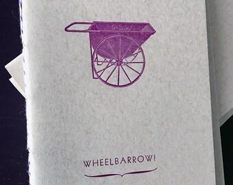 WHEELBARROW! Letterpress Notebook