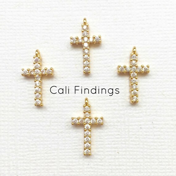 18k gold plated cz pave cross charm gold cross cross pendant pave 18k gold plated cz pave cross charm gold cross cross pendant pave cross cross charm cz cross diamond gold pave cross 1417 from califindings on aloadofball Image collections