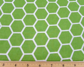 Hexagon  Citrus Green Fabric