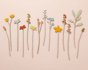Wooden Flowers - Plywood Flowers - Individual Stems