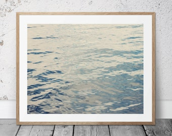 Water Photograph, Printable, Ocean Photo, Beach Decor, Water Ripples, Digital Download